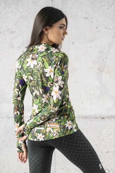 Training sweatshirt Zip Wild Flowers - LBKZ-13W1