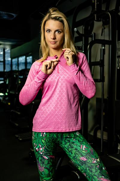 Bluza treningowa Zip Shiny Royal Pink - FLBKZ-1120T