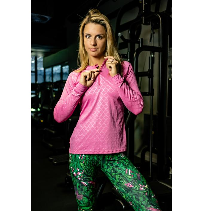 Bluza treningowa Zip Shiny Royal Pink - FLBKZ-1120T - packshot