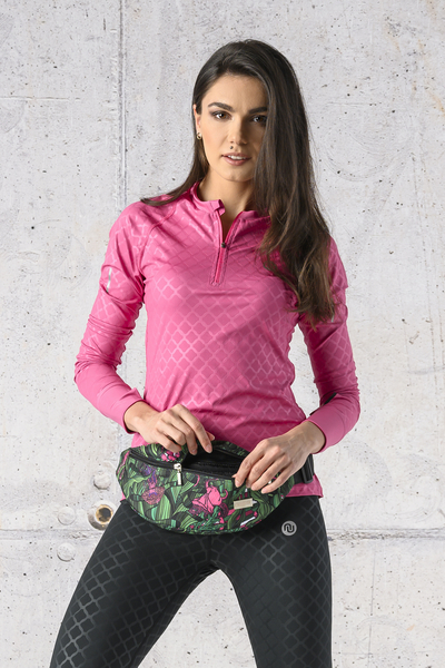 Training sweatshirt Zip Shiny Royal Pink - LBKZ-1120T