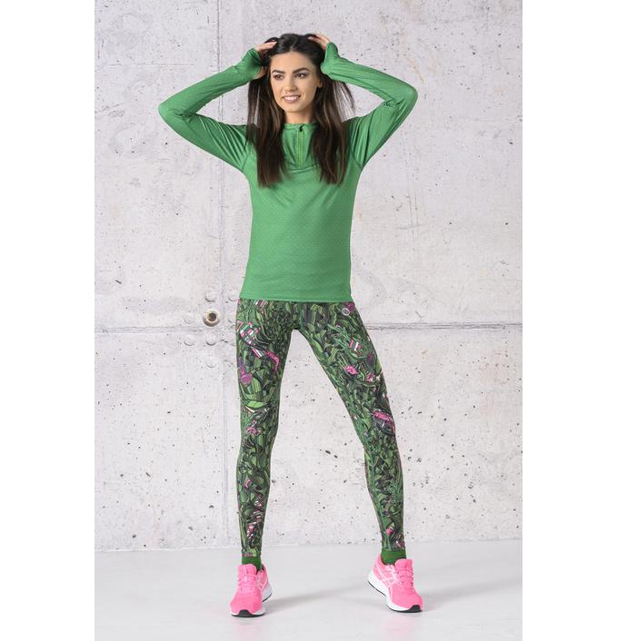 Training sweatshirt Zip Green Mirage - LBZT-13X7 - packshot