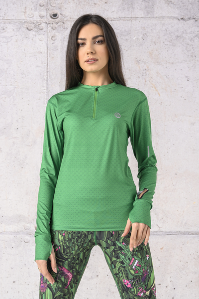 Bluza treningowa Zip fason T Green Mirage - LBZT-13X7