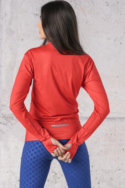 Training sweatshirt Zip Red Mirage - LBZT-11X4