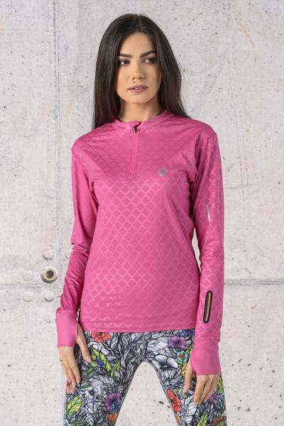 Bluza treningowa Zip fason T Shiny Royal Pink - LBZT-1120T