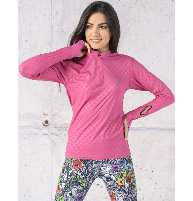 Training sweatshirt Zip Shiny Royal Pink - LBZT-1120T - packshot