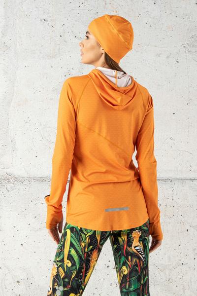Training sweatshirt with a hood Orange Mirage II Quality - LBK-11X3-G2