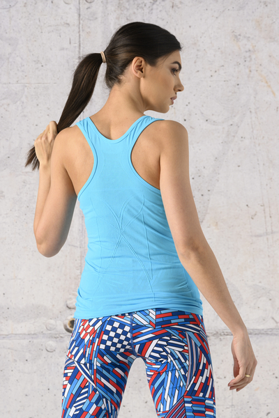 Ultra Light Breathing Tank Top Turquoise - DFU-55