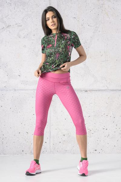 Leggings 3/4 Shiny Royal Pink - OSTP-1120T