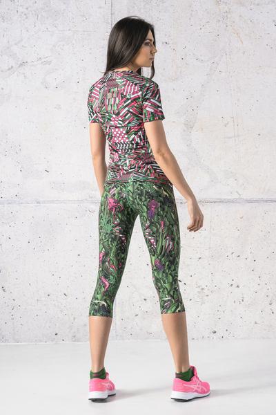 Colorful 3/4 4K Leggings Green Mystery - OSTZ-13L1