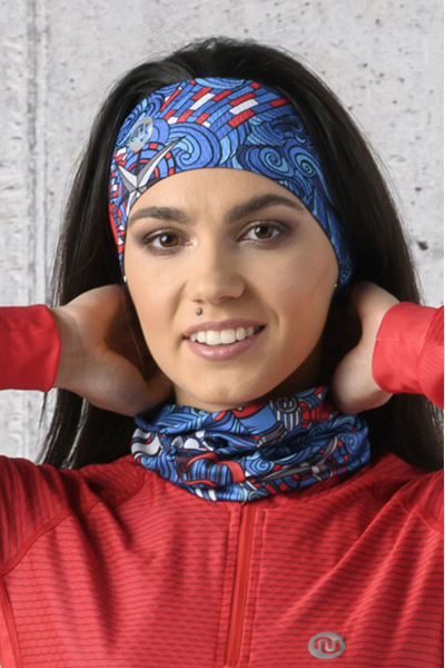 Summer Breathable Neck Warmer Blue Ocean - ABL-13F1
