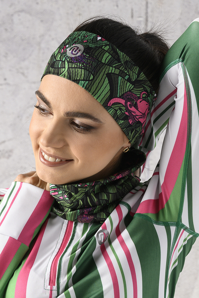 Summer Breathable Neck Warmer Green Mystery - ABL-13L1