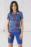 T-shirt Zip Karbon Blue Ocean Karbon - KBC-13F1