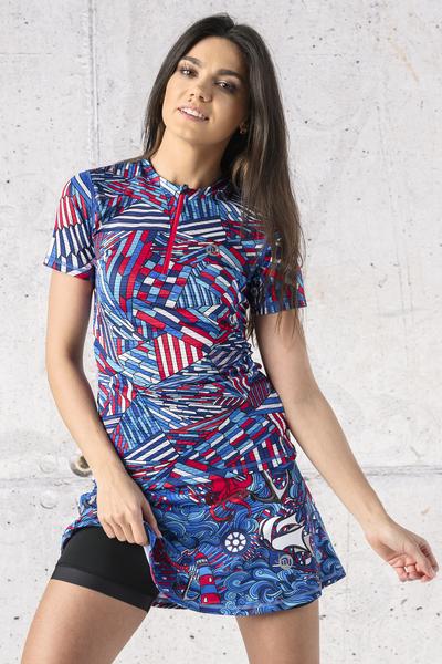 T-shirt Zip Karbon Gamo Blue Karbon - KBC-13S5