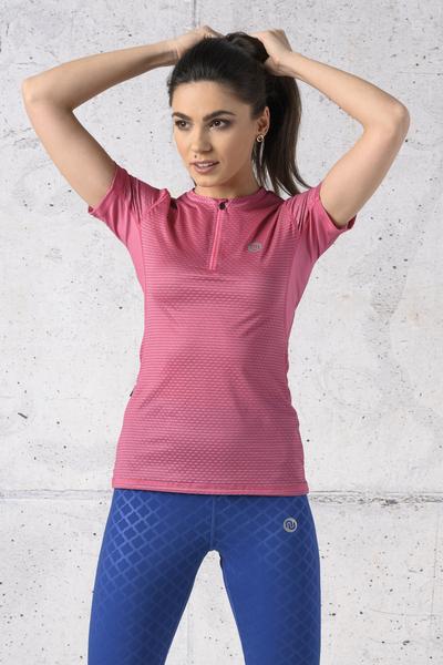 T-shirt Zip Karbon Pink Karbon - KBC-02