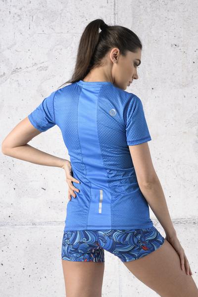 T-shirt Zip Karbon Blue Karbon - KBC-05