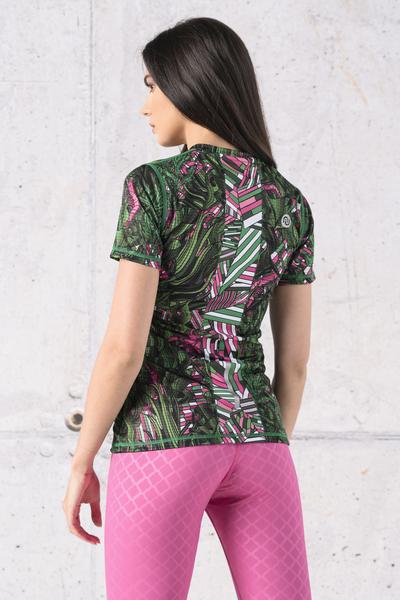 T-shirt Zip Karbon Green Mystery - KBC-13L1