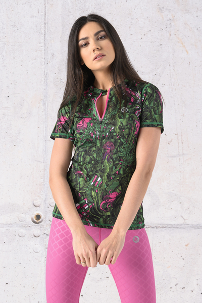 T-shirt Zip Karbon - KBC-13L1