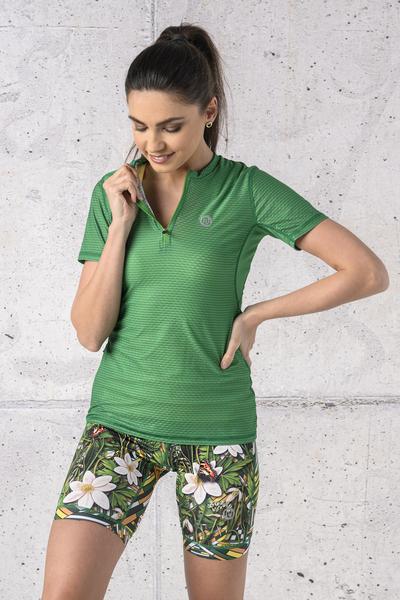 T-shirt Zip Karbon Green Karbon - KBC-07
