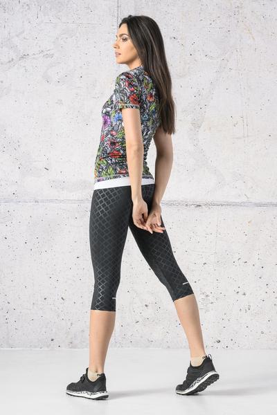 T-shirt Zip Karbon Mosaic Natura Karbon - KBC-13M4