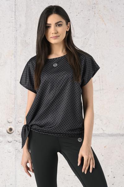 Koszulka Wiązana Fitness Black Mirage - KFW-11X91