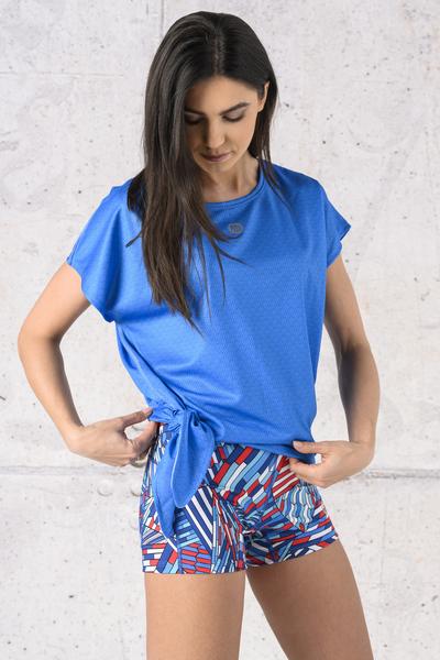 Koszulka Wiązana Fitness Blue Mirage - KFW-13X5