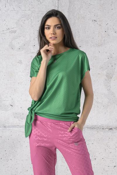 Koszulka Wiązana Fitness Green Mirage - KFW-13X7
