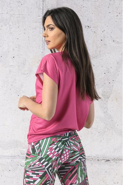 Koszulka Wiązana Fitness Pink Mirage - KFW-13X2