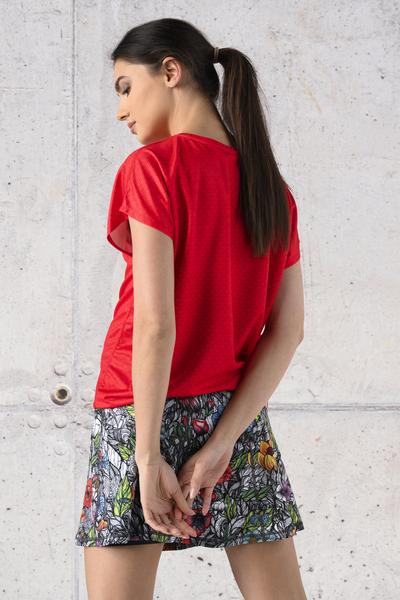 Koszulka Wiązana Fitness Red Mirage - KFW-11X4