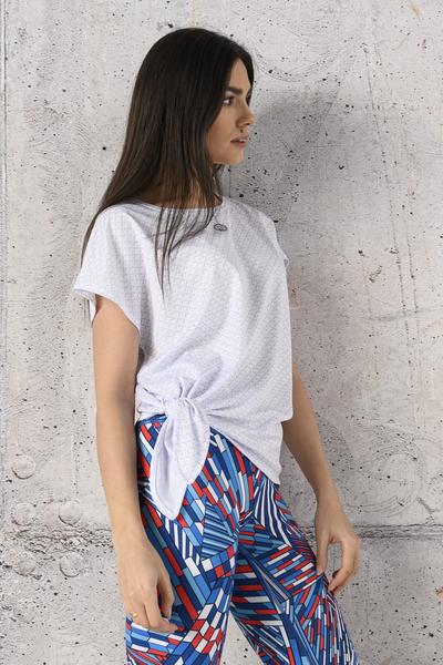 Koszulka Wiązana Fitness White Mirage - KFW-11X0