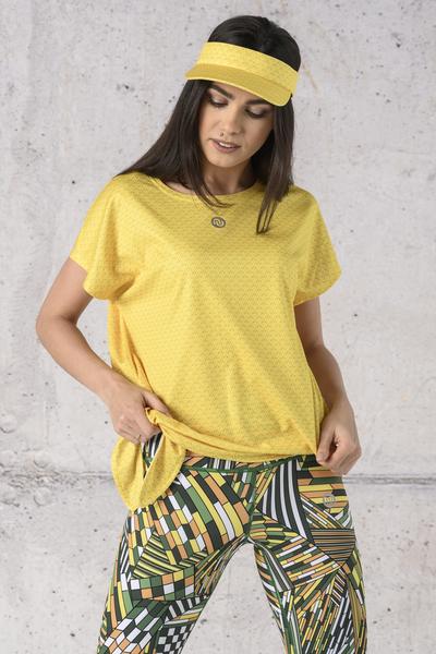 Koszulka Wiązana Fitness Yellow Mirage - KFW-11X1