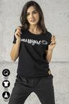 Ecocotton Loose Black T-shirt - ITB-90NG