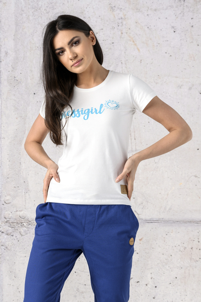 Ecocotton Loose White T-shirt - ITB-00NG2