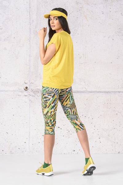 Fitness Leggings 3/4 Gamo Yellow - OSTF-13S1