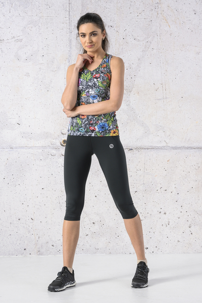 Fitness Leggings 3/4 Total Black - OSTF-PB90