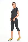 Legginsy 3/4 Fitness Total Black - OSTF-PB90