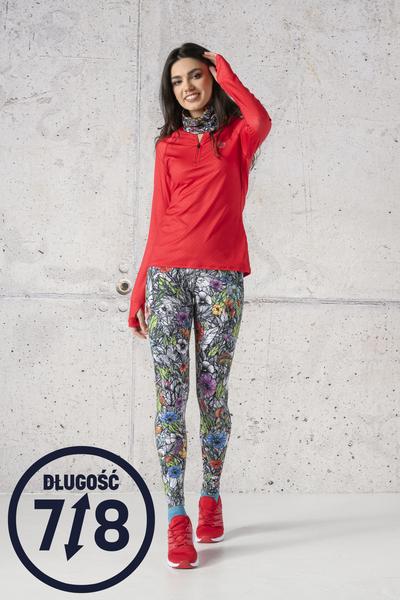 Running Leggings 7/8 with a belt Mosaic Natura - OSLP7-13M4