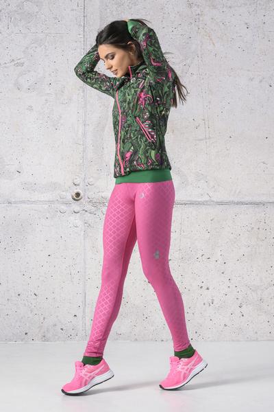 Running Leggings Shiny Royal Pink - OSLZ-1120T
