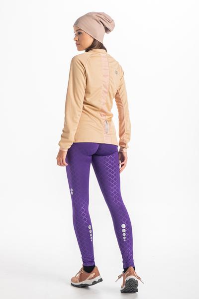 Legginsy Do Biegania Shiny Purple OSLPW-1160T