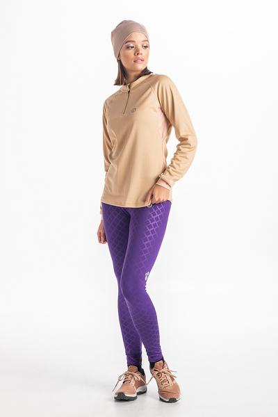 Legginsy Do Biegania Shiny Purple OSLP-1160T