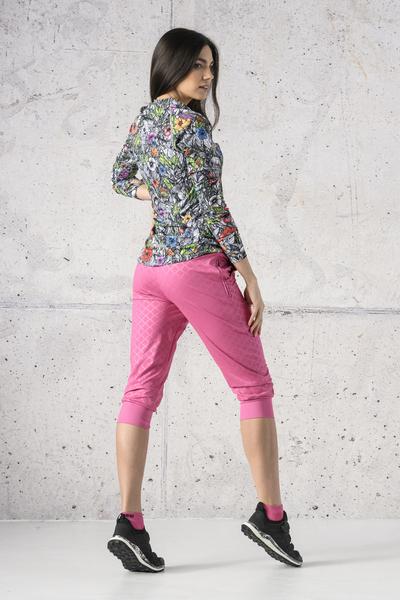 Spodnie dresowe 3/4 Shiny Royal Pink - SCC3-1120T