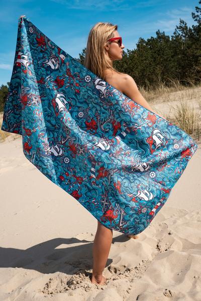 Ręcznik z Mikrofibry Blue Ocean - ARE-13F1 157x80 CM