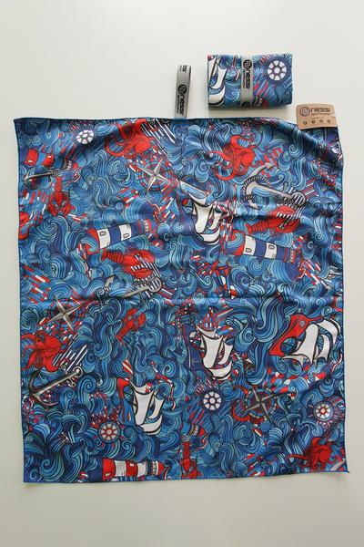 Ręcznik z Mikrofibry Blue Ocean - ARE-13F1 80x70 CM