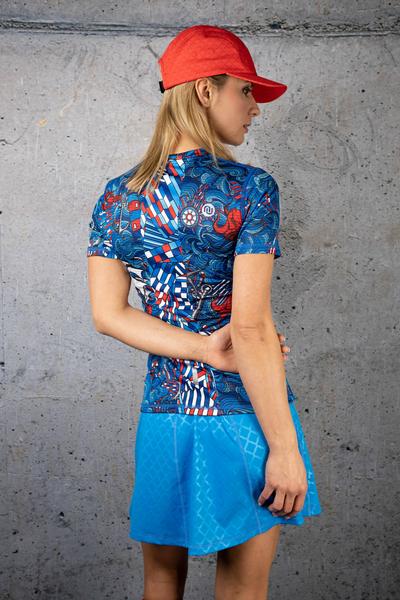Ultra Skirt Shiny Royal Blue - SRNG-1151T