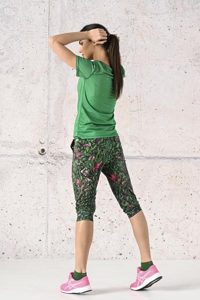 Spodnie dresowe 3/4 Green Mystery - SCC3-13L1