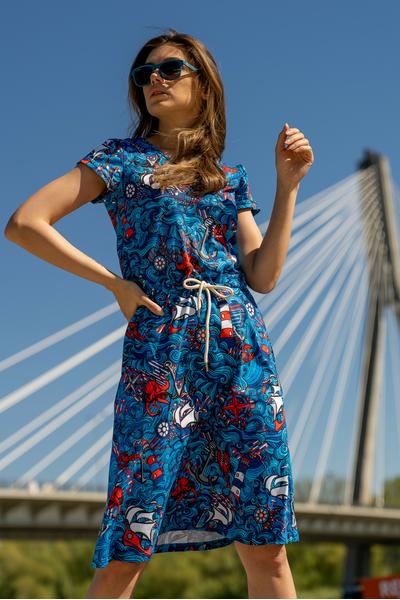 Sukienka bawełniana Blue Ocean - OSRL-13F1
