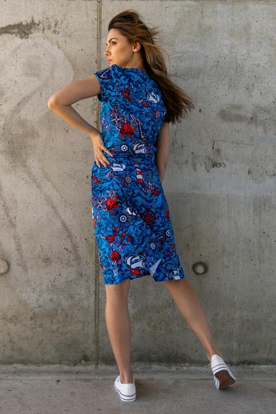 Sukienka bawełniana Luna Blue Ocean - OSRL-13F1