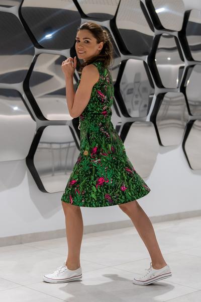 Sukienka bawełniana Green Mystery - OSBL-13L1