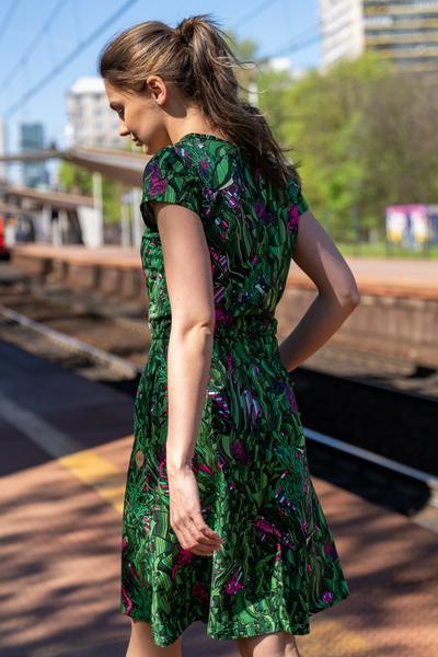 Sukienka bawełniana Luna Green Mystery - OSRL-13L1