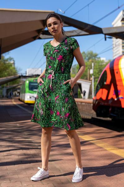 Sukienka bawełniana Green Mystery - OSRL-13L1
