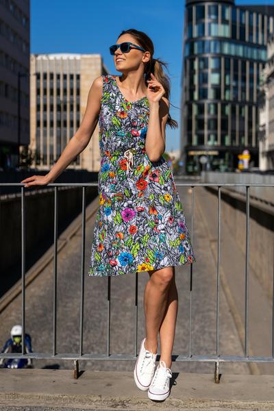 Sukienka bawełniana Mosaic Natura - OSBL-13M4